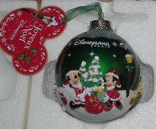 Disney Store Mickey and Friends Green Christmas Decoration Disneyland Bauble