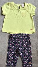 PUMPKIN PATCH baby Girl outfit: Top & 3/4 Leggings 00 EUC. 10 Items = $5 Post