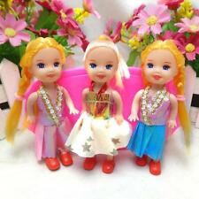 1X Lovely 5 Joints Dolls with Clothes Dress Shoes Wig For Kelly  Doll HU