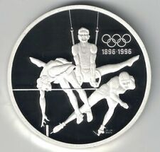 CANADA 1992 $15 OLYMPIC 1 OZ 925 SILVER PROOF COIN HIGH JUMP RINGS SPEED SKATING