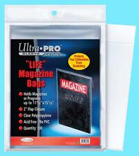 "100 ULTRA PRO LIFE MAGAZINE SIZE Storage BAGS New 11-1/8"" x 15-1/8"" Program Poly"