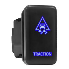 Traction Blue Led Backlit Switch Tall Push Button 154x 083 Fit Toyota