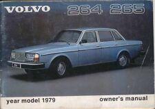 Volvo 200-Series 264 265 1978-79 Original Owners Manual (Handbook) in English