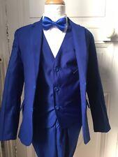 Costume Enfant Mariage ensemble 5 pièces Bleu Roi 14 Ans