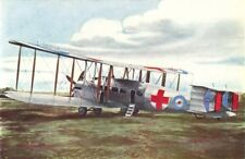 AIRCRAFT. Vickers Vimy ambulance aeroplane 1930 old vintage print picture