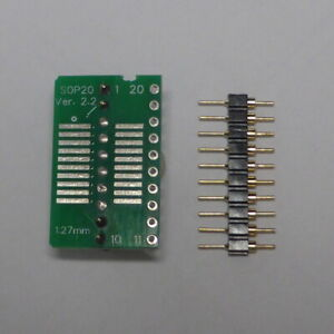 """SO20 SOP20 SOIC20 To DIP20 Adapter - P 1.27 - DIL 0.3"""" - 200/300mil"""