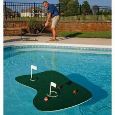 Floating Golf Putting Green for Swimming Pool Backyard Game Blue Wave Aqua Balls