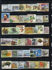 Barbados 100 different stamps collection lot FU