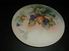Haviland Limoges France Hand Painted Blackberry & Blossom Plate 1890s (loc-K10)