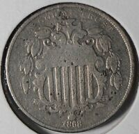 1868 Shield Nickel About Good Condition #176861