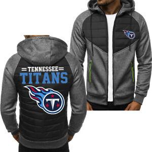 Tennessee Titans Hoodie Classic Autumn Hooded Sweatshirt Jacket Coat Top Tops