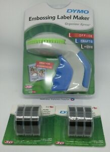 Dymo Xpress Embossing Label Maker express with + 6 black tapes in stock
