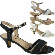 Mujer Zapatos De Tacón Damas Sandalias De Fiesta Nupcial Boda Dama De Honor Punta Abierta Zapatos Talla