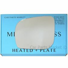 Left side Convex Wing door mirror glass for Subaru Forester 11-13 heated +plate