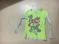 Justice Girl's Neon Yellow Long Sleeve Shirt. Size 10   FREE SHIPPING