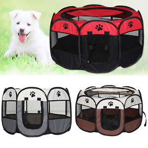 Kennel Cage Crate UK Great Portable Pet Dog Cat Playpen Tent Oxford Fabric Fence