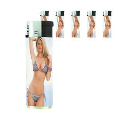 California Pin Up Girl D8 Lighters Set of 5 Electronic Refillable Butane