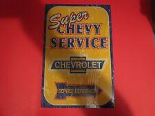 tin metal gasoline service station man cave advertising decor gas oil chevrolet