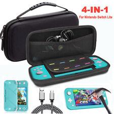 Para Nintendo Switch Lite Shell duro caso bolsa + Cubierta + Protector de cable + Accesorios