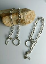 Sarah Coventry silvertone chain for charms  bracelet lot mother daughter pair