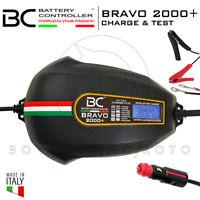 MANTENITORE DI CARICA BATTERIA BC BRAVO 2000+ 100AH MOTO + CONNETTORE 12V GRATIS