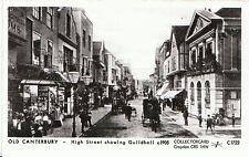 Kent Postcard - Old Canterbury - High Street showing Guildhall, Kent c1905 M502