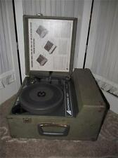 ~Vintage Audiotronic Phonograph Record Player In Case 312 T~