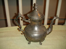 Antique FB Rogers Silver Metal Teapot Or Water Pitcher-Victorian Teapot-Lovely