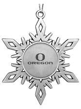 new! University of Oregon Ducks ENGRAVED PEWTER SNOWFLAKE CHRISTMAS ORNAMENT