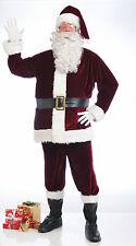 DELUXE CRIMSON VELVET SANTA SUIT & ACCESSORIES X-LARGE - CHRISTMAS NEW!