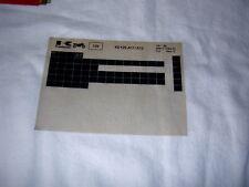KAWASAKI KE125 KE 125 A11/A12  GEN PART CATALOGUE MICROFICHE