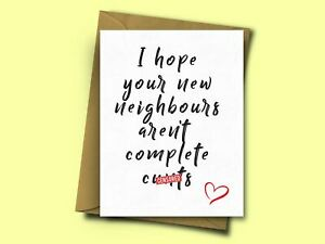 Funny Housewarming Card for Friends New Home From Mum Dad Brother Sister