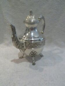 Magnificent late 19th c French 950 silver teapot Louis XVI torches st Vaguer