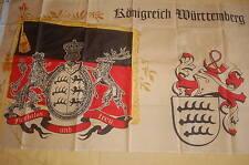 Königreich Württemberg furchtlos und treu Wappen Fahne Flagge 150 x 90 cm # 380