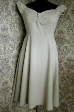Substantial cotton dress by FEVER FISH Size 10 Textured beige