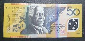 2010 Australian $50 banknote, has  folds