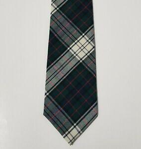 VTG Pendleton 100% Wool Mens Tie Necktie Tartan Plaid Multi-Color USA NWOT