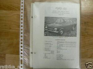 FO01-FORD (D) ESCORT 1100, 1300 EN 1300GT 1968-69 INFO