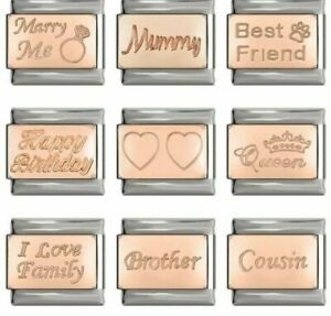 ASSORTED ROSE Charms-Mummy,Brother,Pet Fits Nomination-NEW in Gift Pouch - RG100