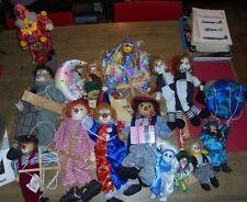 Lot de 15 : Clown dont Automate Musical , Marionnette à poser ,Pendre + Pierrot