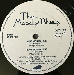 "MOODY BLUES VINYL LOT 12"" Blue World OTHER SIDE OF LIFE ur wildest dreams PROMOs"
