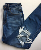 Hollister 3R Ultra High Rise Mom Jeans 26x27 Ripped Destroyed Vintage Stretch
