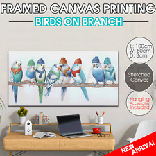 Wall canvas print stretched art home decor painting framed Birds 100cm*50cm