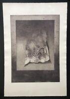Eva Ohlow, Schatten bedeutet Bewegung, Farbradierung, 1977, handsigniert u. numm
