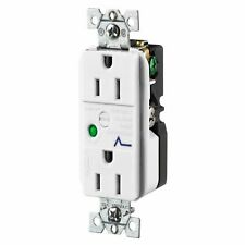 Hubbell White Decorator Surge Suppressor Duplex Outlet Receptacle 15A 5260WSA
