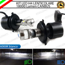 KIT BI-LED BI LED H4 FIAT GRANDE PUNTO 18000 LUMEN CANBUS LENTICOLARE 6000K