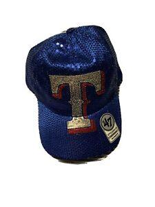 Texas Rangers  '47 Clean Up Women's Snap-Back Sequin Cap