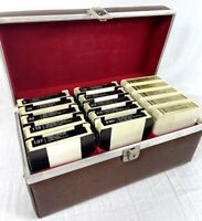 The Singing Machine 8-Track Tape Karaoke Lot of 15 Tapes + 8 Track Storage Case