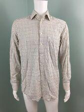 Mens Magee 1866 L/S Plaid Collared Button Down Dress Shirt Sz M Medium