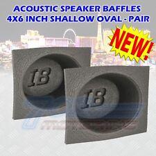 "4X6"" INCH FOAM BASS REFLEX ACOUSTIC CAR AUDIO SPEAKER BAFFLES (PAIR) 4X6"" COVERS"